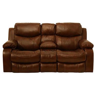Colton Leather Reclining Loveseat Sam S Club