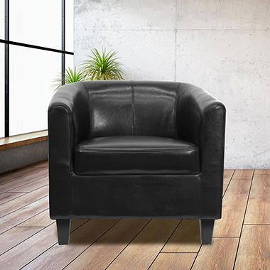 Flash Furniture Leather Reception Chair Black Sam 39 S Club