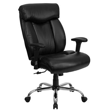 flash furniture hercules series big tall leather office chair black