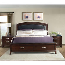 Elaine Platform Storage Bed and Powered Nightstands, 3-Piece Set (Assorted Sizes)