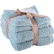 Loftex Luxury Collection 4-Piece Hand Towel & Wash Cloth Bundle (Assorted Colors)