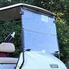 King B EZGO TXT Hinged Golf Car Windshield