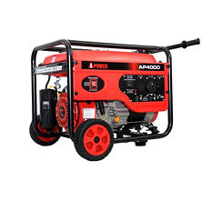A-iPower 3,000/4,000 Watt Gasoline Powered Portable Generator with Manual Start - Includes Wheel Kit & Handle