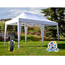 UNDERCOVER 10 x 20 Professional Instant Canopy Aluminum Octagonal Frame, Wheel-Bag and Spikes