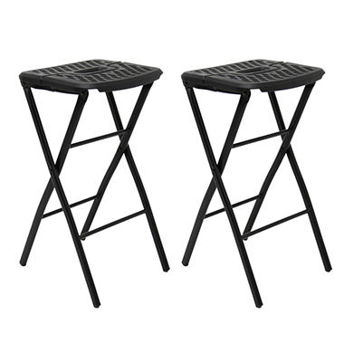 Mity Lite Flex One Folding Stool Black 2 Pack Sam S Club