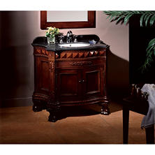 "OVE Decors 36"" Buckingham Single Vanity with Marble Top"