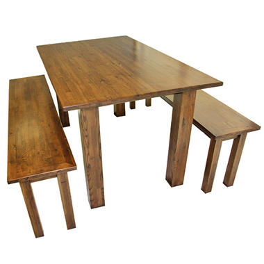 EcoVet Farmhouse Reclaimed Wood Dining Table Sam 39 S Club
