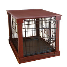 Zoovilla Crate with Mahogany Wood Crate Cover (Choose Your Size)