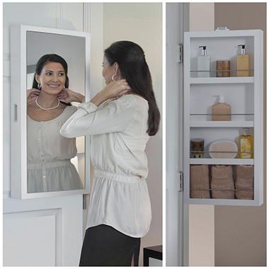 Cabidor Mini Deluxe Mirrored Behind The Door Storage Cabinet