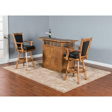 Tucson Small Bar With Stools 3 Piece Set Sam 39 S Club