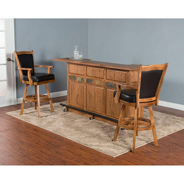 Tucson Large Bar And Stools 3 Piece Set Sam 39 S Club