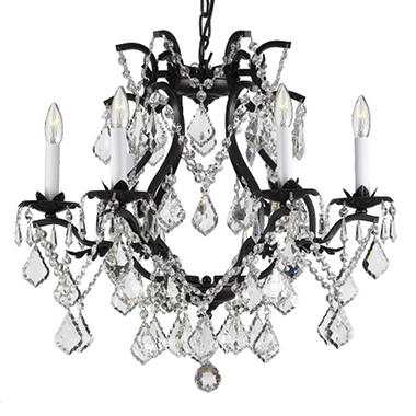 Harrison Lane Versailles Wrought Iron And Crystal