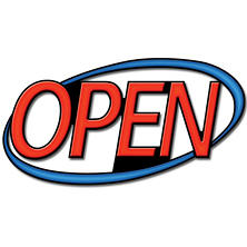 Superbrite LED OPEN Sign, 30""