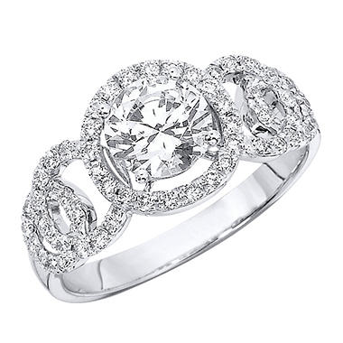 "1.40 CT.T.W. ""Circles"" Diamond Engagement Ring in 14K ..."