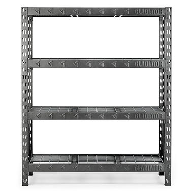 Gladiator 60 Inch 4 Shelf Welded Steel Garage Shelving