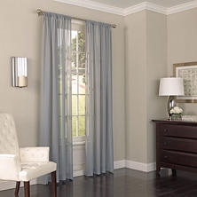 Eclipse Chelsea UV Light-Filtering Window Sheer Curtain (Assorted Sizes)