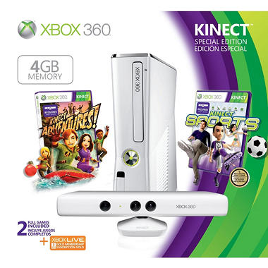 Xbox 360 4gb white special edition kinect console bundle sam 39 s club - Xbox 360 console kinect bundle ...