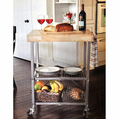 Folding kitchen cart sam 39 s club for Collapsible kitchen cart