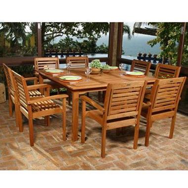 Lido Outdoor Indoor Square Table Set 9 Pc Sam 39 S Club