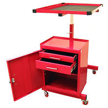 "Excel Red Steel Tool Cart 31.7"" x 20.2"" x 33.1 x 45.1"""