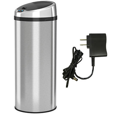 Itouchless Round Automatic Sensor Trash Can Stainless