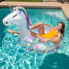 Inflatable Animal Pool Float with Matching Drink Holder Mini-Float