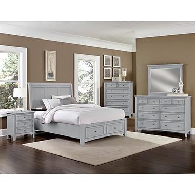 Hamilton Bedroom Furniture Set With Storage Sleigh Bed Sam 39 S Club