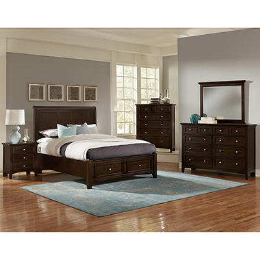 tribeca bedroom furniture set with storage sleigh bed