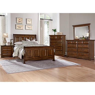 Manchester Bedroom Furniture Set With Sleigh Bed Sam 39 S Club