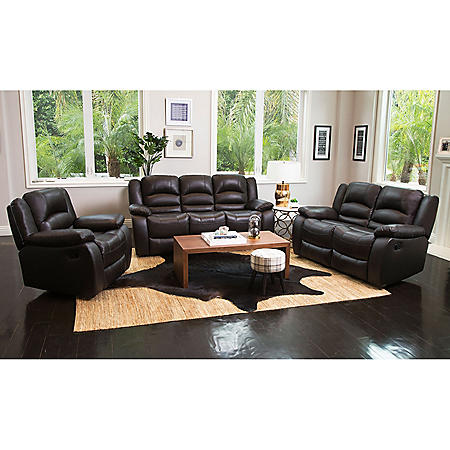 Pleasing Verona Top Grain Leather Reclining Sofa Loveseat And Chair Set Gmtry Best Dining Table And Chair Ideas Images Gmtryco