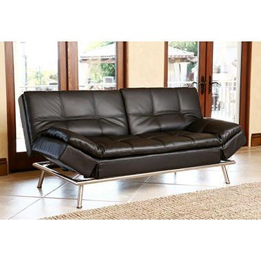 Chelsea leather convertible sofa sam 39 s club for Chelsea leather sofa
