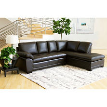 Westbury Top-Grain Leather Sectional