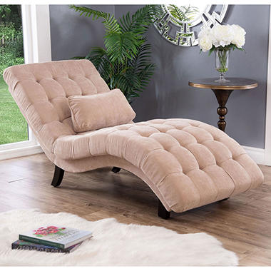 Becca Upholstered Chaise Lounge Cream Sam S Club