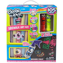 Chalk-a-doos Sidewalk Chalk Set, 105 Pieces