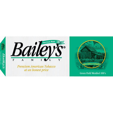Bailey's Green Field Menthol 100s Soft Pack 1 Carton