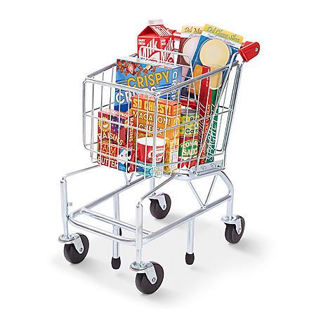 Melissa & Doug Grocery Shopping Cart, Groceries & Pretend Money Play Set (70 Pcs.)
