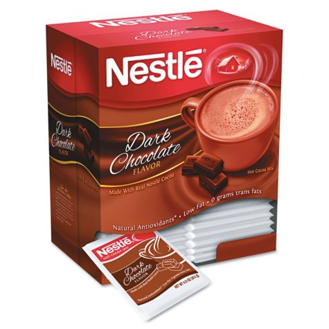 Nestle Instant Hot Cocoa Mix - Dark Chocolate - 0.71 oz. packets - 50/Box