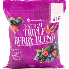 Member's Mark Natural Triple Berry Blend (4 lbs.)