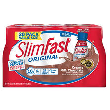 SlimFast Creamy Milk Chocolate Shake (11 fl. oz. bottles, 20 ct.)