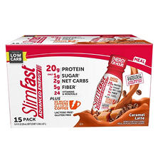 SlimFast Advanced Energy Caramel Latte Ready to Drink (15 ct.)