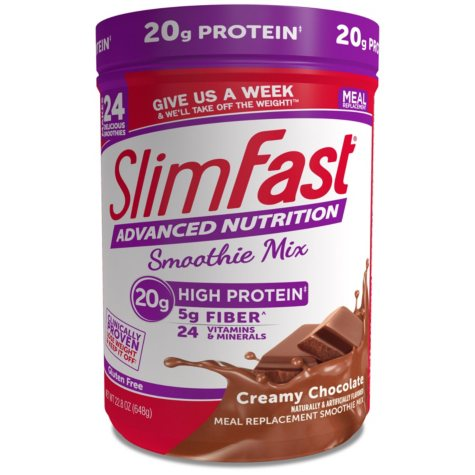 SlimFast Advanced Nutrition Creamy Chocolate High Protein Smoothie Mix (22.02 oz.)
