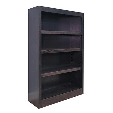 A. Joffe 4-Shelf Single Wide Bookcase, Espresso