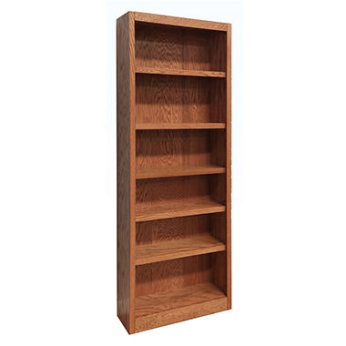 A. Joffe 6-Shelf Single Wide Bookcase, Select Color