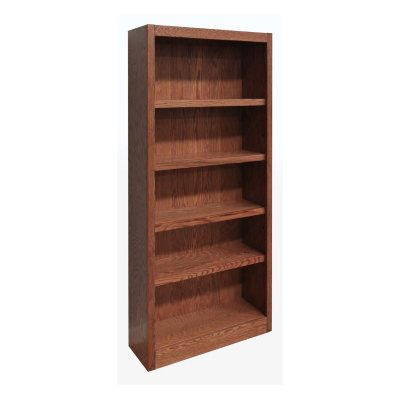 A. Joffe 5 Shelf Single Wide Bookcase, Select Color