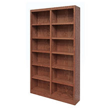 A. Joffe 12 Shelf Double Wide Bookcase, Select Color