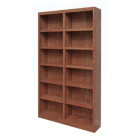 a joffe 12 shelf double wide bookcase select color - Colored Bookshelves