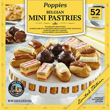 Poppies Belgian Mini Pastries Dessert Assortment (30.86 oz., 52 ct.)