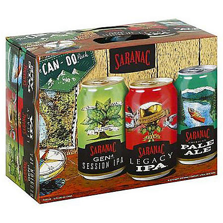 Saranac Variety Pack Beers (12 fl. oz. can, 15 pk.)