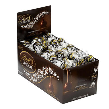 Lindt LINDOR Truffles, 60% Cocoa Extra Dark Chocolate (120 ct. box)