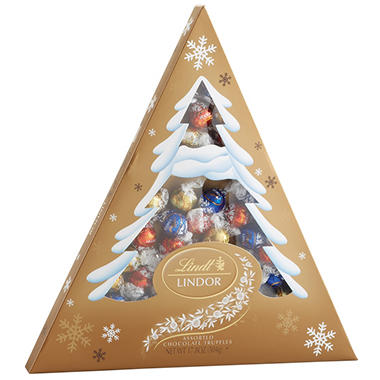 Lindt LINDOR Assorted Truffle Holiday Tree Gift Box (17.8 oz.)